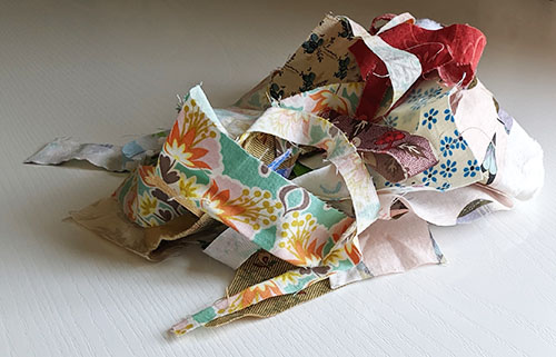 Recycle fabric scraps